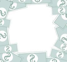 sfondo pastello di denaro vettore