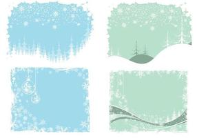 Christmas and Winter Wallpaper Pack di vettore