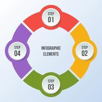 Grafico a cerchio, cerchio infografica o diagramma circolare vettore