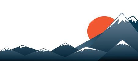 Sfondo di Monte Fuji vettoriale