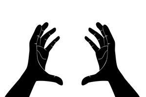 mani che tengono il vettore di arte
