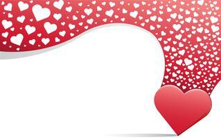 cuore amore sullo sfondo vettore