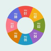 Grafico a torta, cerchio infografica o diagramma circolare vettore