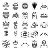 Pacchetto di icone di fast food