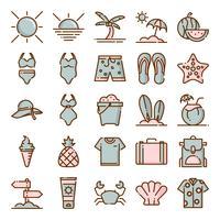 Pacchetto di icone di estate vettore
