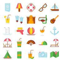 Pacchetto di icone di estate