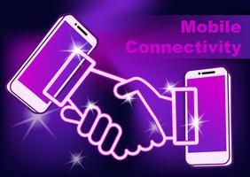 Connessione del telefono cellulare. vettore