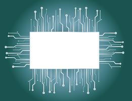sfondo della scatola microchip vettore