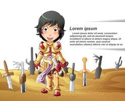 personaggio del cavaliere in stile cartoon.