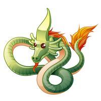 Il drago è animale nelle fiabe. vettore