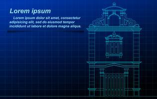 schema di edificio storico. vettore