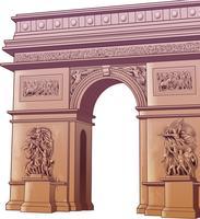 Vettore isolato arco di Tito in stile cartone animato.