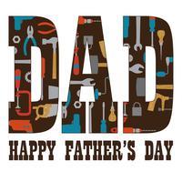 Grafica di tipografia di giorno del padre con strumenti