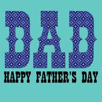 Grafico di tipografia del modello della bandana blu di festa del papà