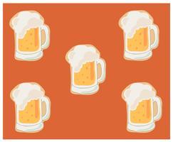 sfondo di cartone animato di birra vettore