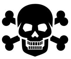 emblema con teschio
