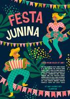 Festa latinoamericana, la festa di giugno del Brasile. Festa Junina. vettore