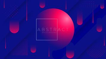 Composizione geometrica di forme sfumate alla moda minimal. illustrazione vettoriale.