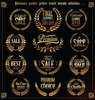 Collezione premium laurel wreath di qualità e vendita vettore
