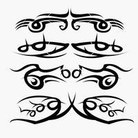 Modelli di set di tatuaggi tribali. concetto in gotico con ala e volare vettore
