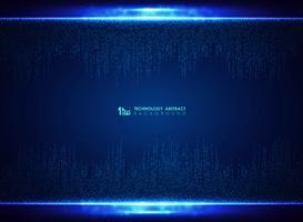 Fondo quadrato blu della decorazione di progettazione del modello di tecnologia. illustrazione vettoriale eps10