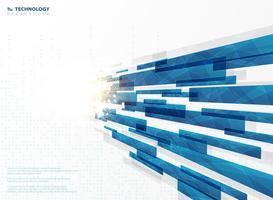 Le linee blu astratte della banda di tecnologia quadrano geometrico con la decorazione del chiarore. illustrazione vettoriale eps10