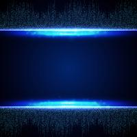 Astratto blu futuristico del fondo del modello di connessione quadrata. illustrazione vettoriale eps10