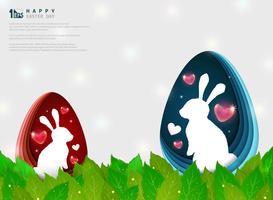 Fondo astratto di giorno di anniversario di festival di Pasqua. illustrazione vettoriale eps10