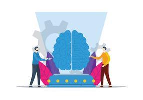 Cervello digitale vettore