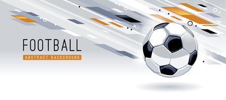 Priorità bassa moderna astratta con pallone da calcio