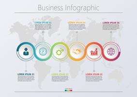 Modello di infografica di Business road map presentazione