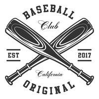Mazze da baseball vettore