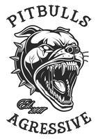 Testa di pitbull arrabbiato