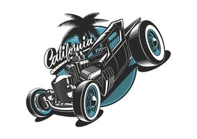 illustrazione vettoriale di hot rod