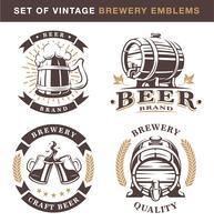 ? emblemi di fabbrica di birra intage