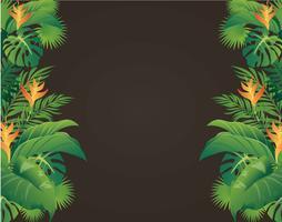 foglie verdi design moderno e illustrazione vettoriale sfondo nero