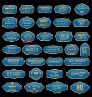 Collezione di distintivi ed etichette retrò vuoto cornici d'epoca