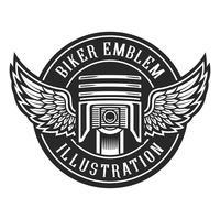 Emblema del motociclista
