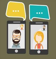 Illustrazione vettoriale moderno di chat online