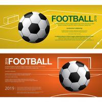 Un'illustrazione di vettore del manifesto di calcio di calcio dell'insegna 2