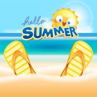 vacanze estive all'illustrazione della priorità bassa della spiaggia vettore