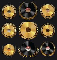 Distintivi di dischi in vinile retrò