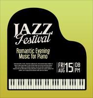Illustrazione di vettore di sera del piano di festival di jazz