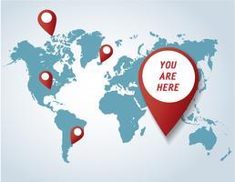 icona pin con il vettore di sfondo mappa