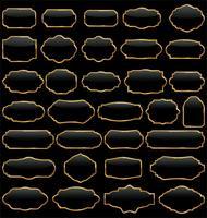 Vector set di cornici d'epoca