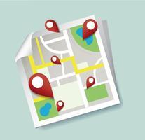 sei qui, punta l'icona della posizione e il vettore della mappa, il concetto di viaggio