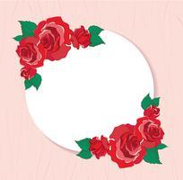 cartolina d'auguri dei biglietti di S. Valentino con l'illustrazione di vettore del fondo delle rose rosse