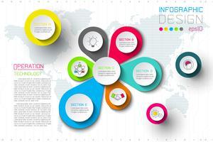 La spruzzata di affari delle etichette della goccia di acqua modella infographic. vettore