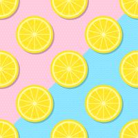 Fette di limone giallo estate sfondo vettore