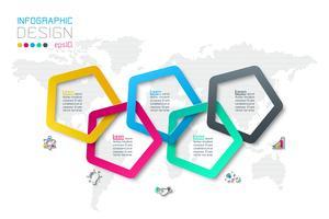 Opzioni del passaggio di affari e modello astratto di opzioni di numero di infographics. vettore